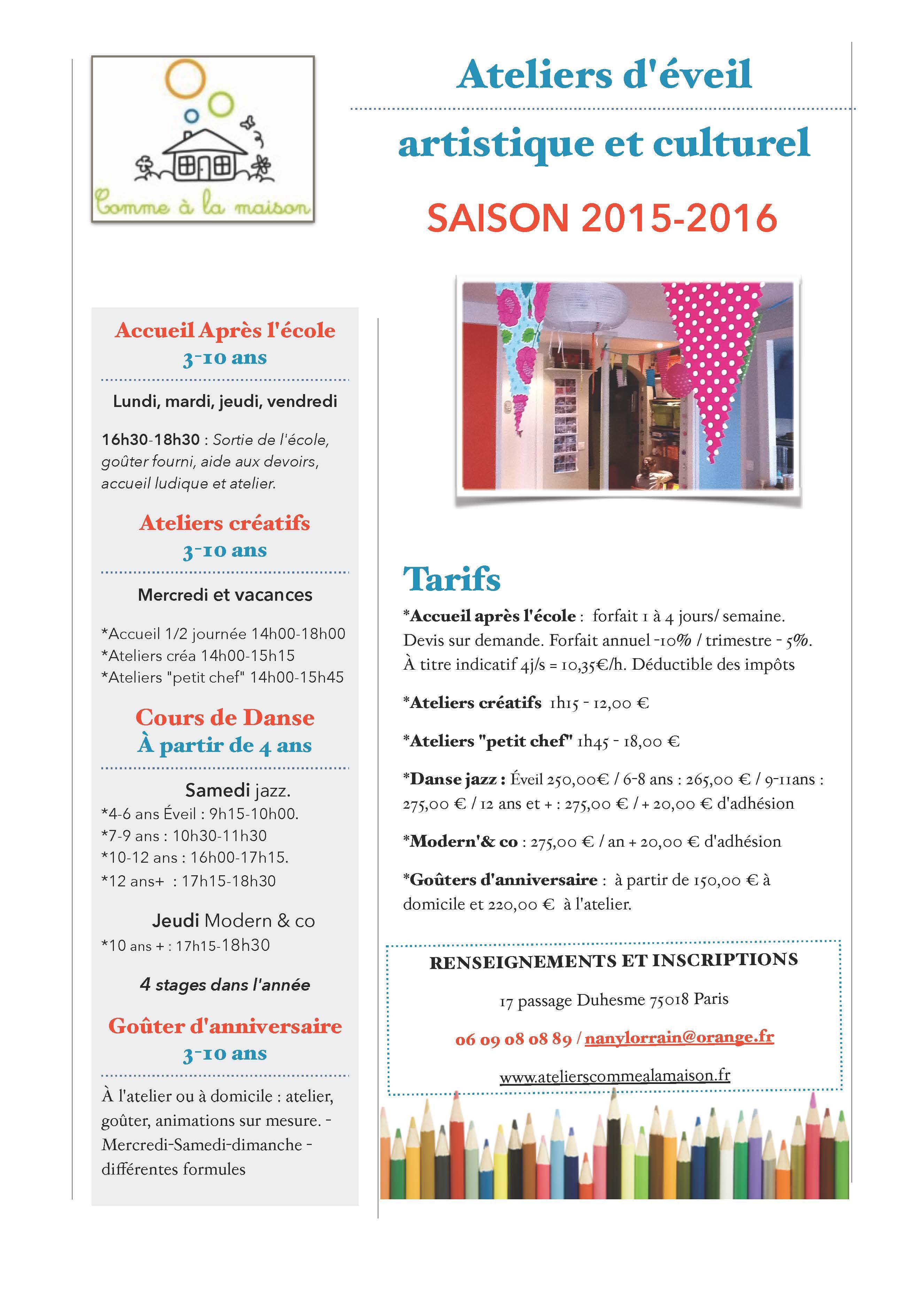 Plaquette 2015-2016